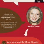 Je m'appelle Astrid, je suis étudiante en BAC 2 sage-femme à HELMo Sainte-Julienne et souhaite représenter et défendre les étudiants de HELMo ! J'incarnerai sans crainte vos plaintes, revendications et propositions pour une vie étudiante au sein des institutions HELMo encore meilleures !