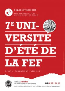 Invitation Université d'Été de la FEF